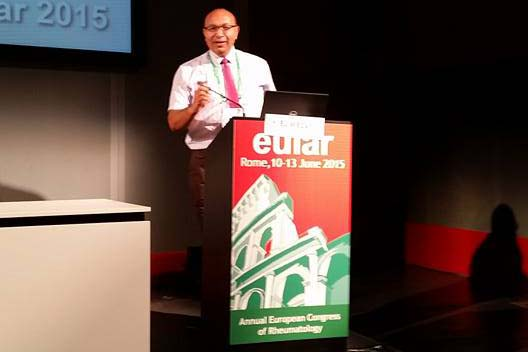 EULAR Conference 2015, Rome: Oral Presentation on Simulated teaching in Rheumatic Diseases